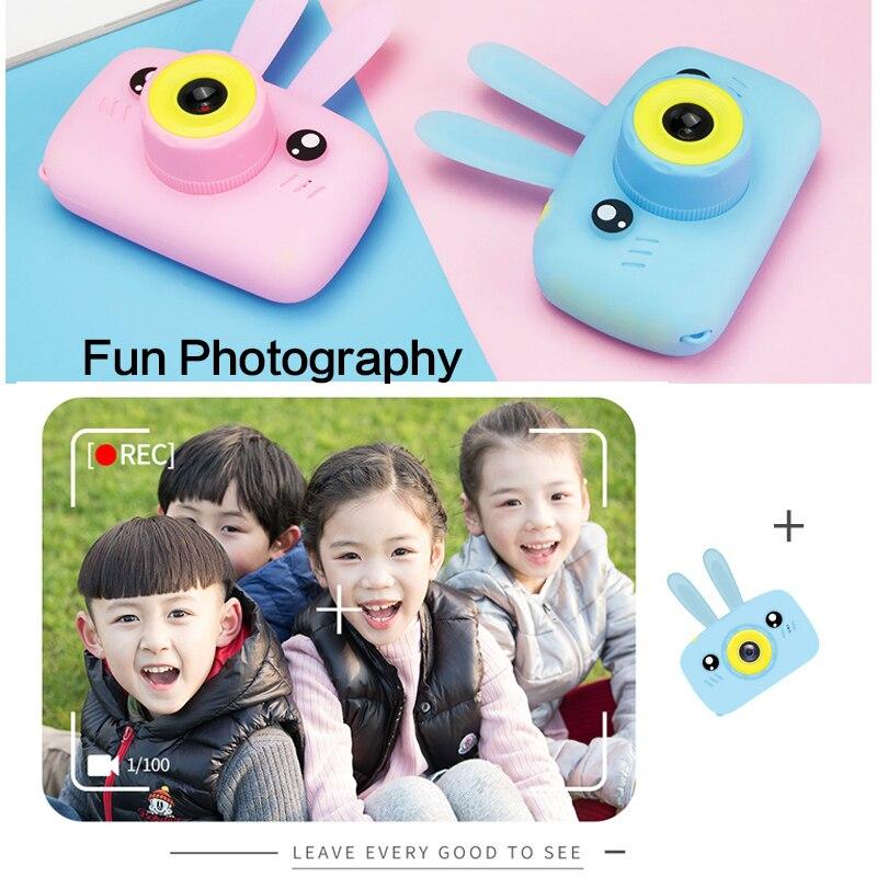 Children Kids Camera Mini Digital Camera 2 inch Cute Cartoon Camera Toy Gift For Kids 16MP 1080P Photo Video Camera for Children