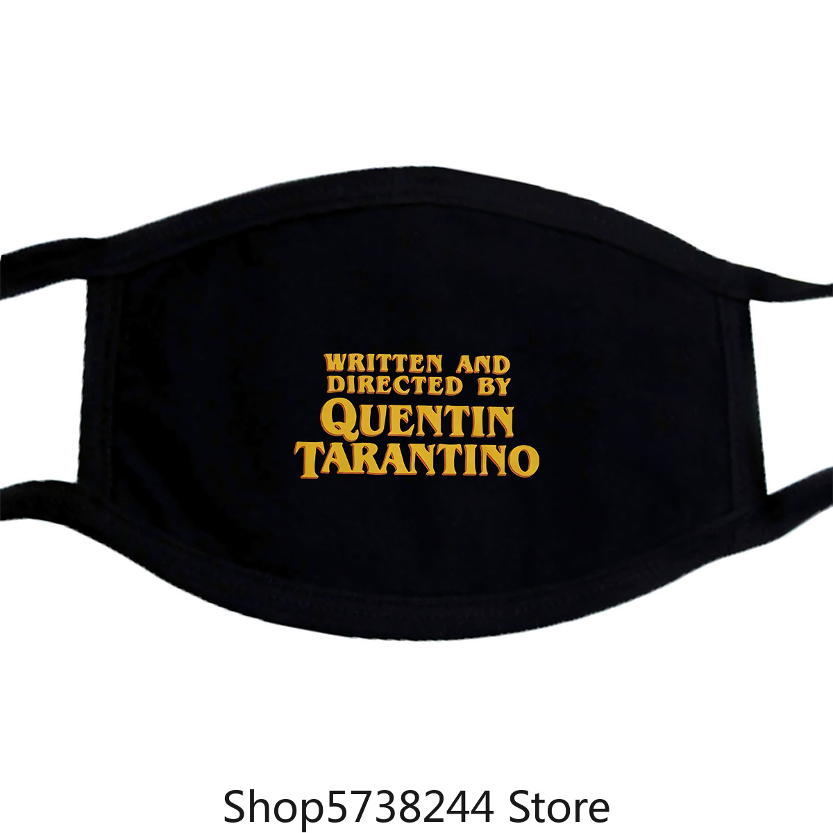 Written And Directed By Quentin Tarantino Mask Cotton Tee Washable Reusable Mask