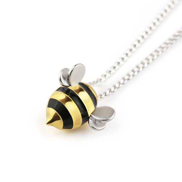 Aretes de abeja de plata de ley 925 para niños y mujeres, pendientes de plata de ley 925 eh1425 para prevenir alergias