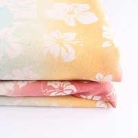 Полуметровая хлопковая ткань, Четырехцветная градиентная Цветочная Волшебная расцветка для «сделай сам» Лоскутная работа, стеганая ткань,...
