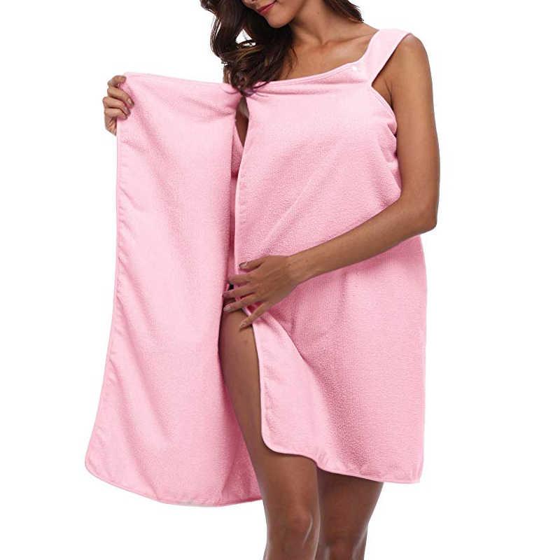 Wearable Bath Towel Dress Deep V Quick Dry Sling Bath Skirt for Swimming Beach