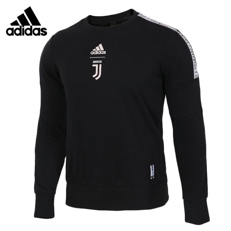Adidas Neo JUVE SSP CR SWT Black Mens Running Jas Sport Kleding Wind-proof Round Neck Suitable