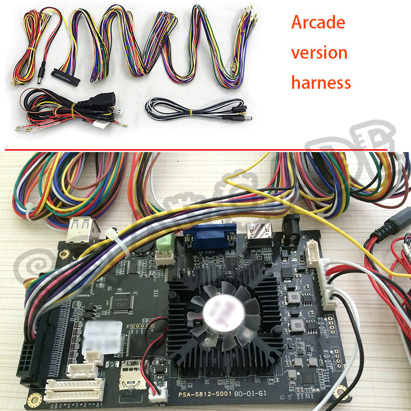 Home Version Arcade Cable With Jamma Cable Function For Connecting Arcade Accessories Such As Button Joysticks Coin Acceptor Etc