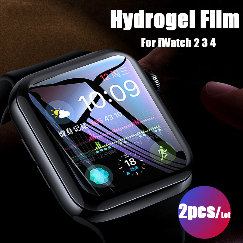2pcs For Apple Watch Screen Protector iWatch series 5 4 3 2 1 Hydrogel Full Protective