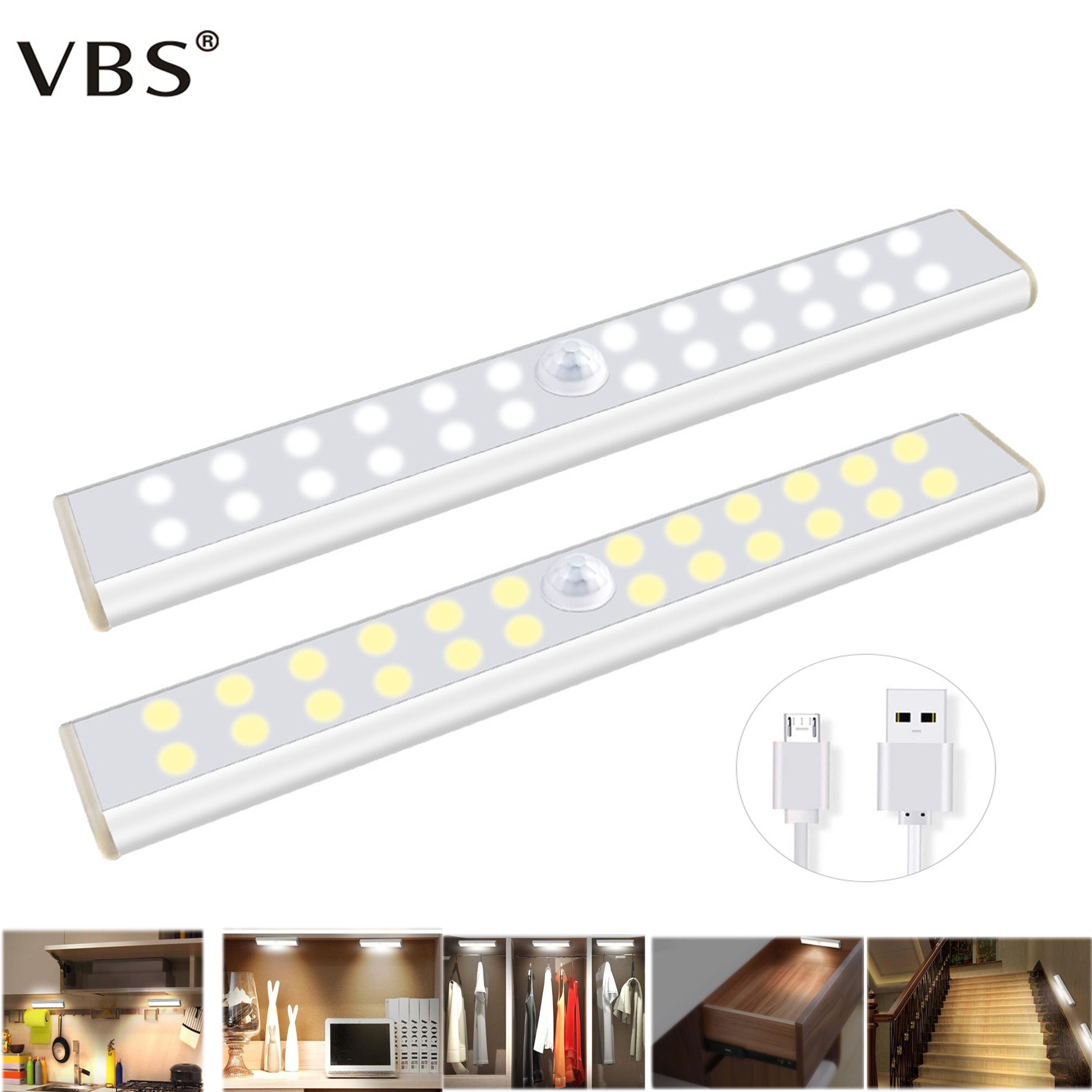 Led Under Cabinet Light Battery Lamp