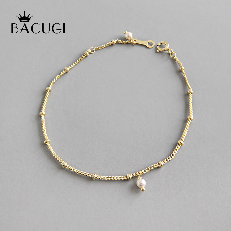 925 Sterling Silver White Coin Pearl Gray Freshwater Pearl Bracelet Charm Clip