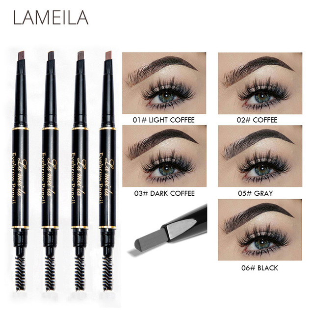 Hot 5 Colors Eyebrow Pencil Eye Brow Tint Cosmetics Natural Long Lasting Paint Tattoo Eyebrow Waterproof Black Brown Makeup Set 1