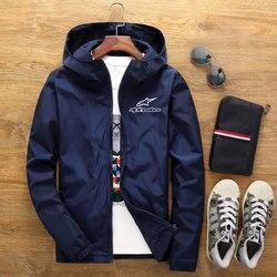 Alpinestars masculino bombardeiro zíper jaqueta masculina casual streetwear hip hop fino ajuste piloto casaco alpine estrela roupas masculinas plus size 7xl