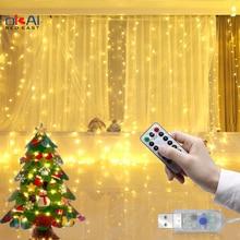 Гирлянда Штора для детской комнаты Новое поступление на Новый год, свадьбы, Рождества, светильник s украшения для дома, шторы, гирлянда свето...
