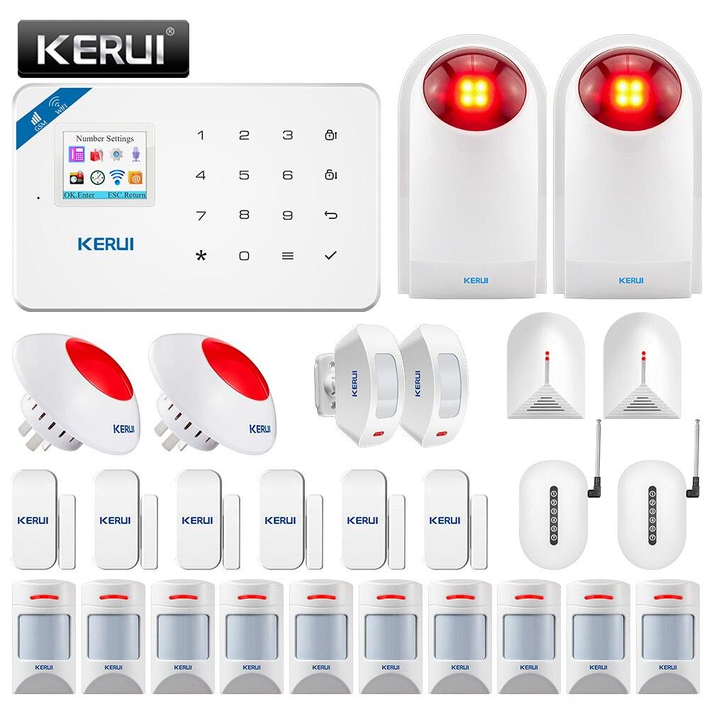 KERUI W18 WIFI Wireless GSM Alarm system Home Security Alarm APP Remote Control Home Security Alarm Host with Siren Host Eas Kit