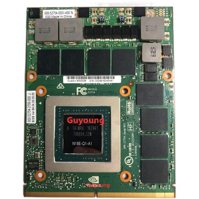 Quadro M3000m 4GB GDDR5 de tarjeta gráfica de vídeo para HP zBook 17 G3 G5 para Dell precisión 7710 7720 M6700 M6800 N16E-Q1-A1