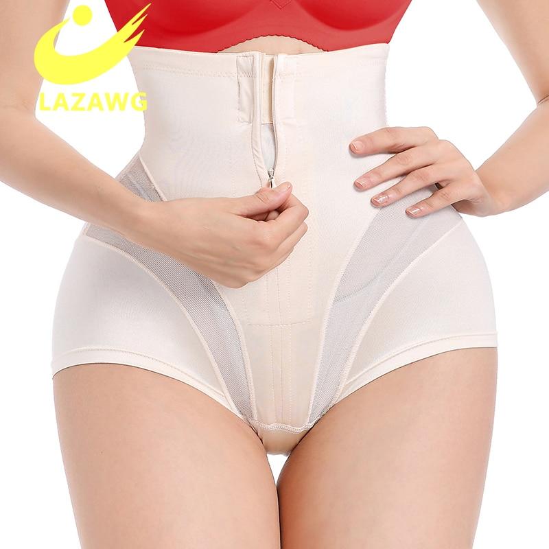 LAZAWG Postpartum Girdle High Waist Control Panties Women Butt Lifter Belly Slimming Body Shaper Underwear Belly Waist Trainer