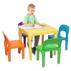 Kinder Tisch und 2 Stuhl Set Childrens Kunststoff Kinder Kleinkinder Childs Geschenk Für Jungen und Mädchen marke neue