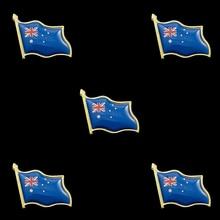 5PCS Australia Australian Flag Enamel Lapel Pin Decorations Souvenir Hat Men Women Patriotic Brooch 5pcs 2019 chile national flag patriotic metal flag lapel pin brooch accessories for clothes bag hat