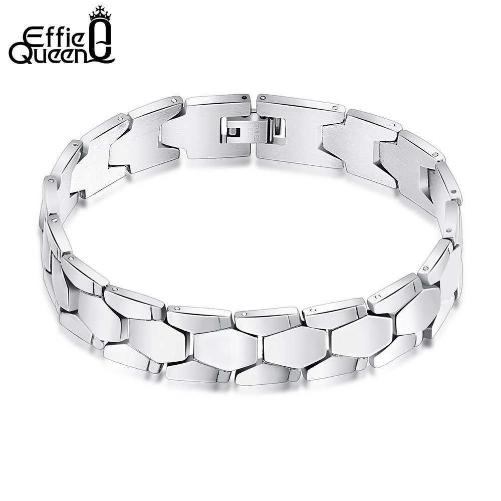 Effie Queen Top Grade Stainless Steel Men's Bracelet Hand Chain Charming Fashion Jewelry For Men&Boy Gift 22CM IB77