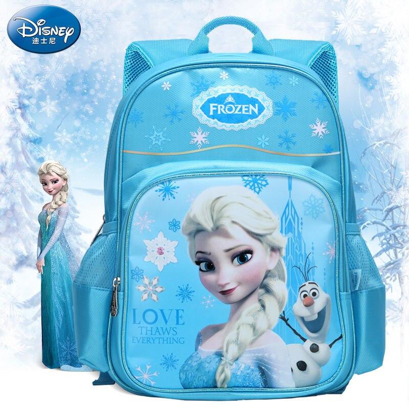 Anna Elsa Primary School Student Bag For School Frozen Cartoon Kindergarten Princess Backpack Girl Burden Backpack Girl Boy Bag