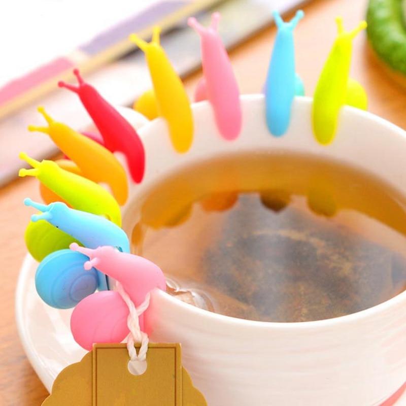 1 Pcs Cooking Tools Small Snail Recognizer Device Tea Infuser Cup Of Tea Hanging Bag Color Randomly