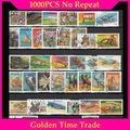 1000 pces em todo o mundo diferentes cto e selos postais usados para a coleção