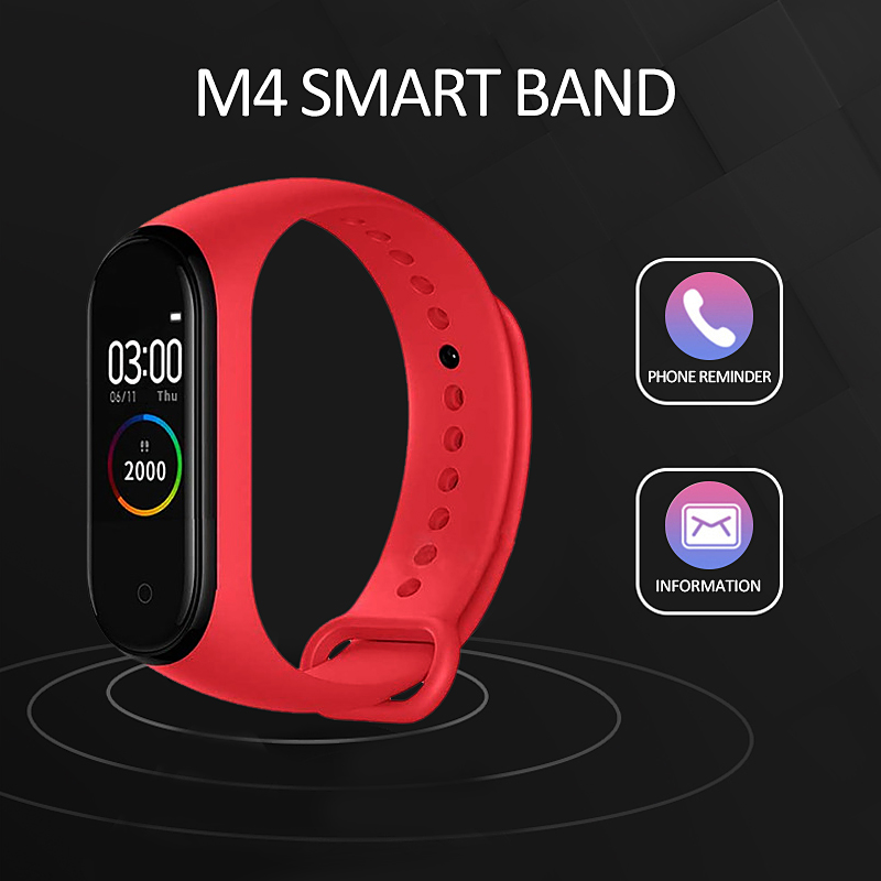 <font><b>M4</b></font> <font><b>Smart</b></font> <font><b>Band</b></font> Fitness Tracker Watch <font><b>M4</b></font> Sport Bracelet Heart Rate Blood Pressure Smartband Monitor Health Wristband Waterproof image