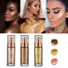 Foera shimmer rosto corpo maquiagem bronzeadores fundação líquida highlighter cobre cor 30ml creme corretivo loção à prova dwaterproof água tslm2