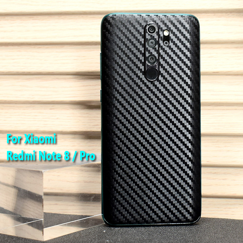 For Xiaomi Redmi Note 8 / Note 8 Pro New Fashion Back Cover Decal Skin 3D Carbon Fiber Phone Protective Sticker Film