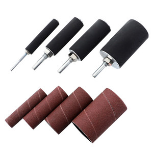 Image 4 - Drum Sander Dremel Kit Sanding Belt Grit 80 120 Sandpaper Long Short with Spindle Case for Drill Press Rotary Tools