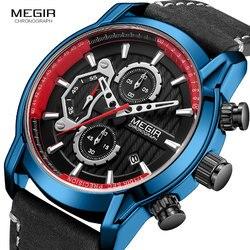 Zegarki mężczyźni marka megir mężczyźni Sport zegarki męskie zegar kwarcowy człowiek dorywczo wojskowy wodoodporny Wrist Watch relogio masculino 2104G