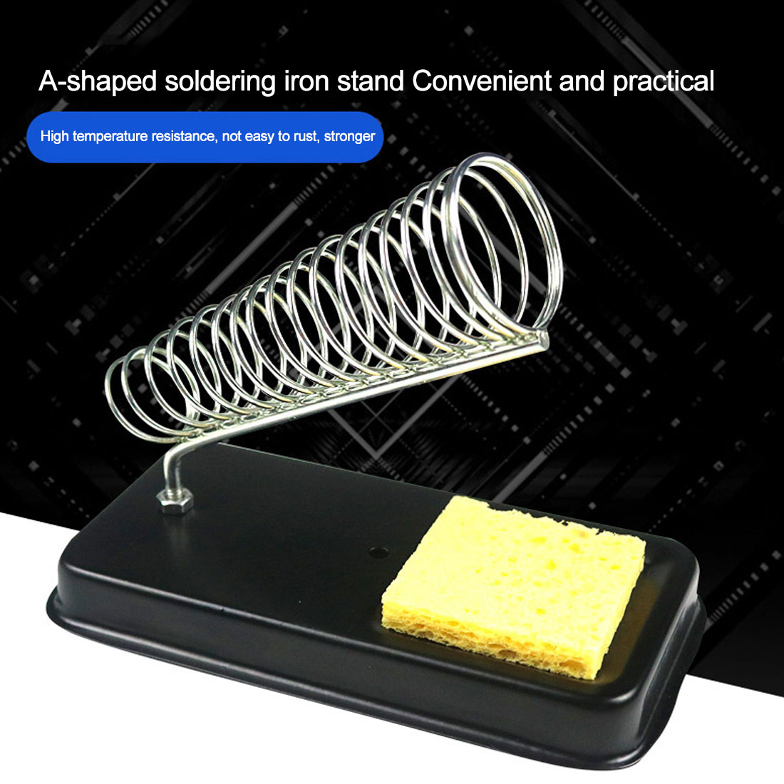 High Temperature Resistance Soldering Iron Stand Holder Electric Soldering Irons Base Station