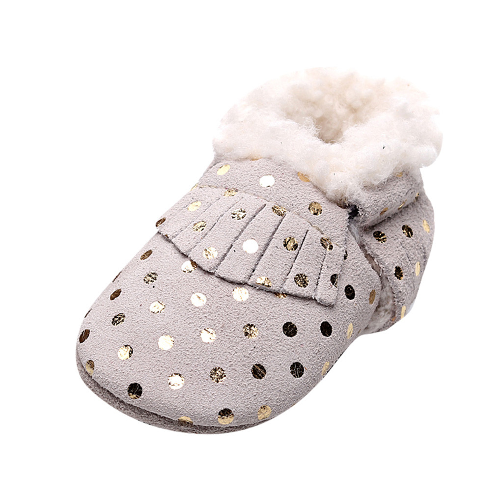 Ladies Spot On Sequined *Slipper Boots*