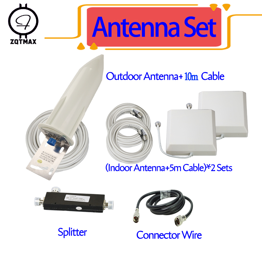 ZQTMAX <font><b>Antenna</b></font> for 2g 3g 4g cellular signal booster <font><b>800</b></font> 850 900 1800 1900 2100 2300 2600 <font><b>mhz</b></font> CDMA GSM DCS WCDMA PCS <font><b>Antenna</b></font> set image