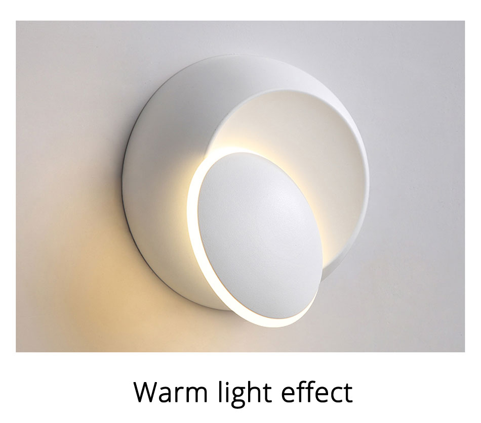 ajustável luz cabeceira branco e preto criativo