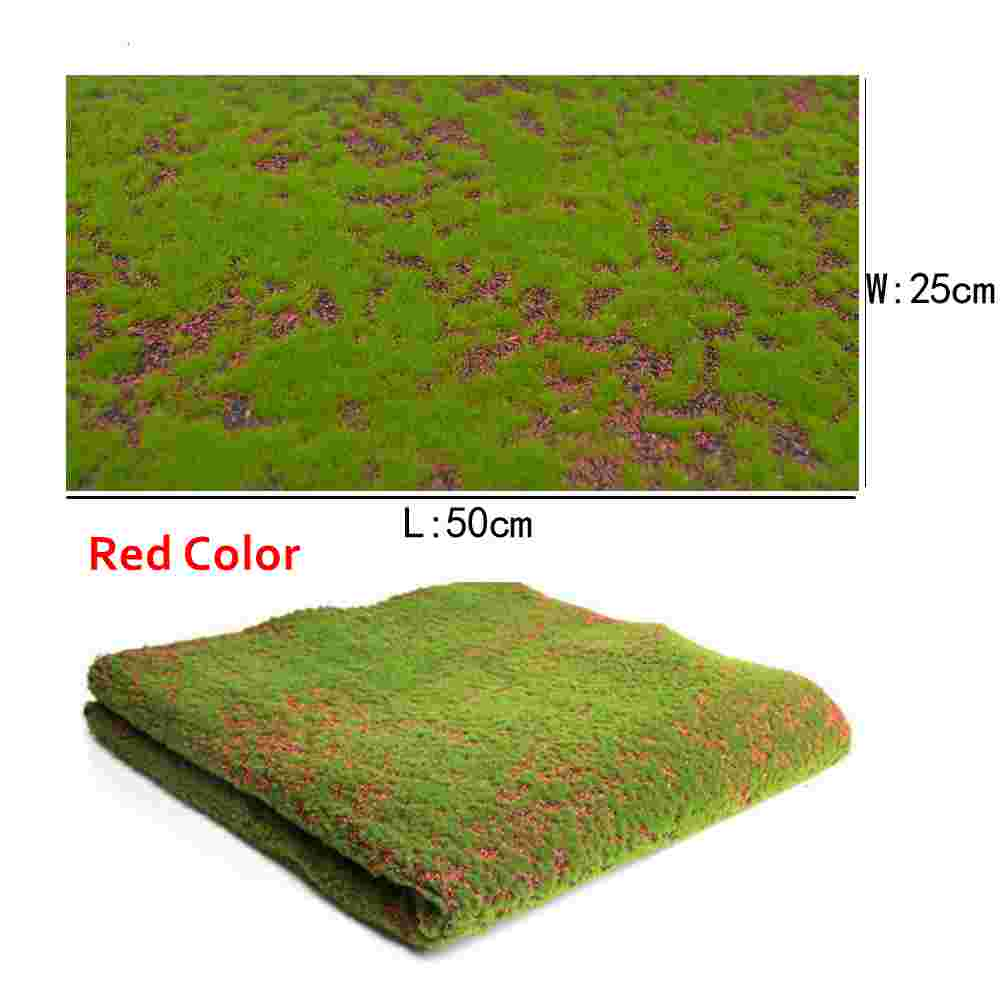 2pcs DIY turf lawn model grass mat outdoor landscape 25x50 micro scenery for diorama DIY sand table building model material in Model Building Kits from Toys Hobbies