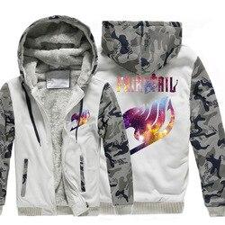AliExpress Japanischen stil Fairy Tail Winter Kleidung Sport Strickjacke Kleidung Dicke MÄNNER Tragen Camouflage Pullover
