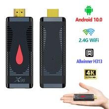 Allwinner H313 Quad Core X96S400 Android 10.0 Smart TV Box 4K 2.4G WiFi 2020 New Set Top Box Media Player H.265 HEVC