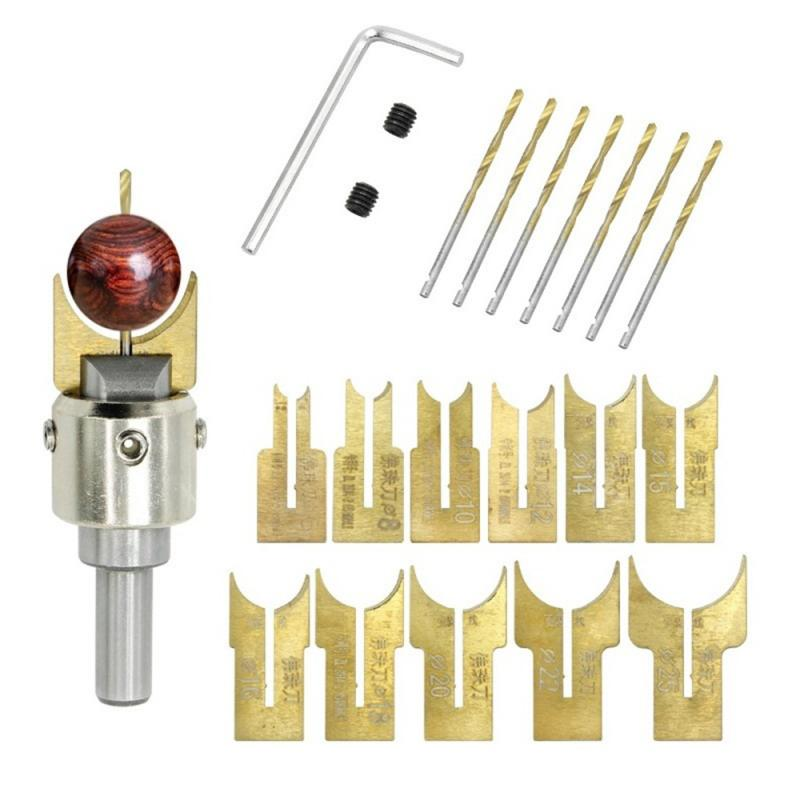 Carbide Wood Bead Maker 6/8/10/12/14/15/16/18/20/22/25mm Beads Drill Bit Milling Cutter Electric Drill Power Woodworking Tools