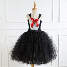 Костюм черного лебедя для девочек платье костюм на Хэллоуин