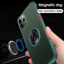 Магнитный чехол с кольцом для пальца на для iPhone 11 Pro MAX XS MAX XR 7 8 Plus прозрачный полночный зеленый чехол-подставка для iPhone11 Pro чехол на для айфон 11 Pro MAX XR XS MAX 7 8 плюс