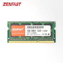 Zenfast ddr3 4gb 8gb 1333 1600 mhz SO-DIMM 1.35v memória do portátil do ram 204pin sodimm do caderno