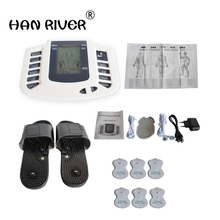 JR 309 Electrical Stimulator Full Body Relax Muscle Massager Pulse Tens Acupuncture Therapy Slipper+6 Electrode Pads
