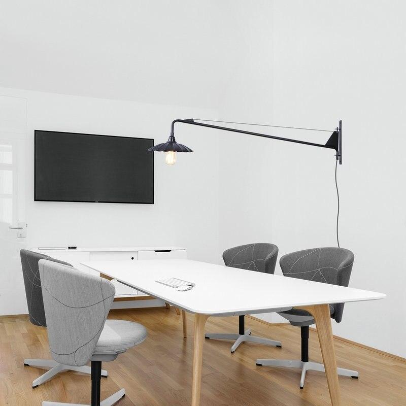 Новый Реплика дизайнер Регулируемый Античный Современный Промышленный/длинный поворотный кронштейн настенный светильник для ванной комн