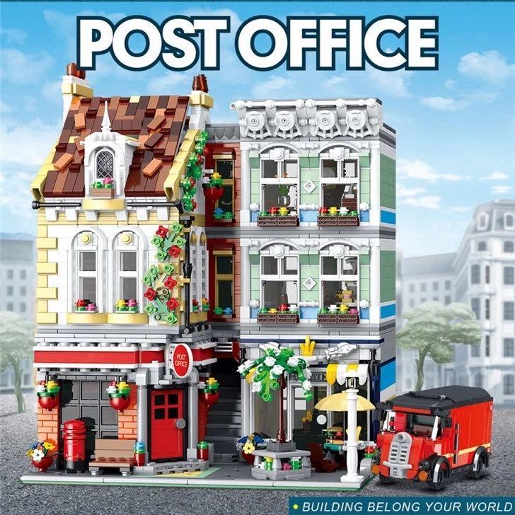 Город МОС уличная серия кирпичная почтовая служба кирпичная модульная модель кирпичной конструкции DIY игрушки подарок для детей