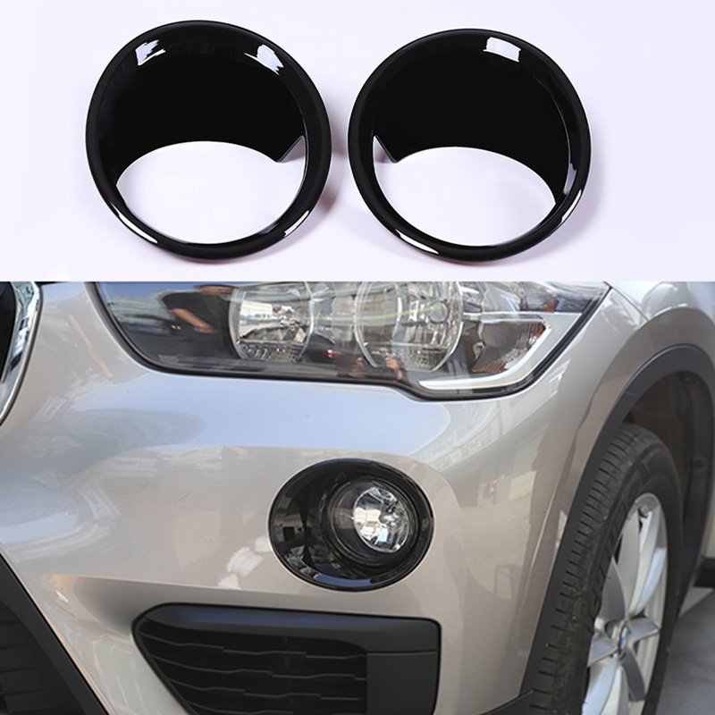 Front Fog Lights Lamp Frame Ring Cover Trim Fit For BMW X1 F48 2016-2019 Accessories