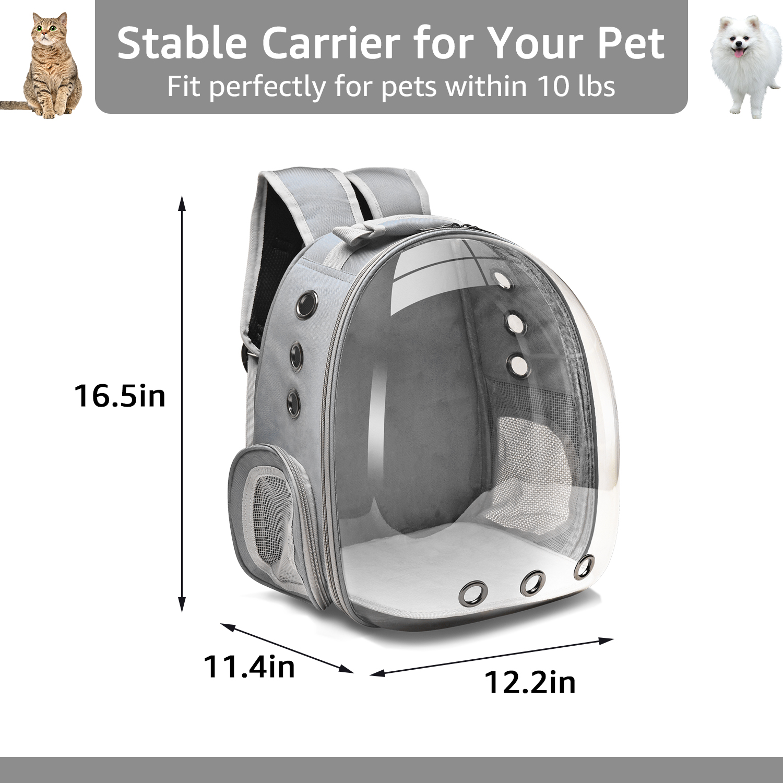1Pc Comfortable Transparent Pet Backpack