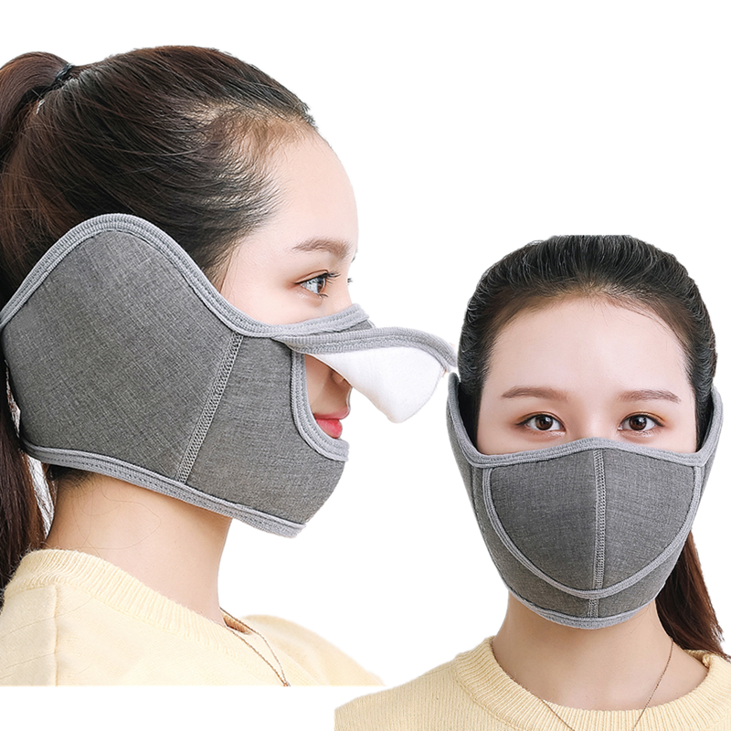 Winter Warm Mouth Mask Ear Mask Respirator Earmuffs Man Or Women