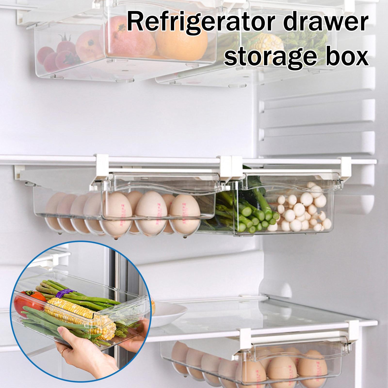 Fridge Drawer Organizer Fridge Organizer Adjustable Drawer Fridge Storage Box Containers Pantry Freezer Storage Drawers Tools