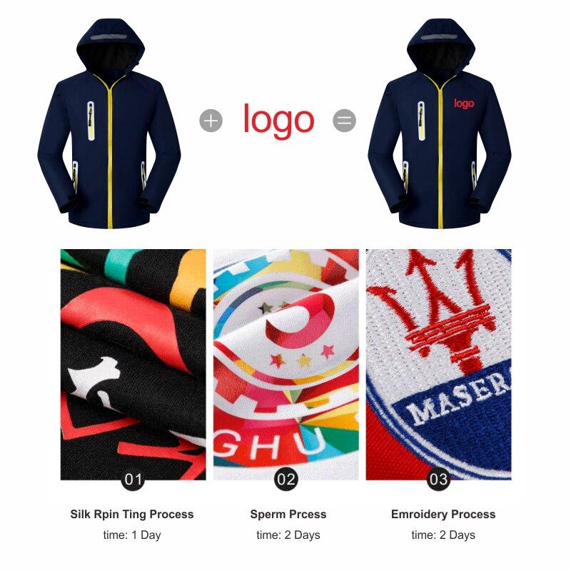 YOTEE zima wysokiej jakości gruba wiatrówka firmy grupa własne logo niestandardowe dół kurtki mężczyzn i kobiet topy