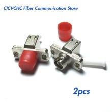 2pcs FC(Female)-LC(Female) Single-mode Fiber Optic Adaptor-Hybrid Mating Adapter
