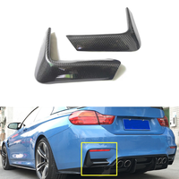 M3 M4 Hinten Lip Splitter Splitter Flaps Schürze Winglets für BMW F80 M3 4 Tür F82 F83 M4 2 Tür 14-17 echtem Carbon Zurück Ecke