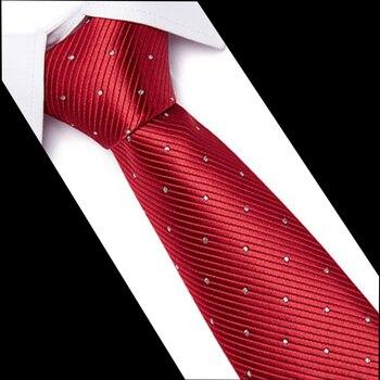 Classic Fashion Men Ties Polyester Silk Wedding Business Necktie Neck Luxury 100% Neckwear 7.5CM Stripes Tie Dropshiiping