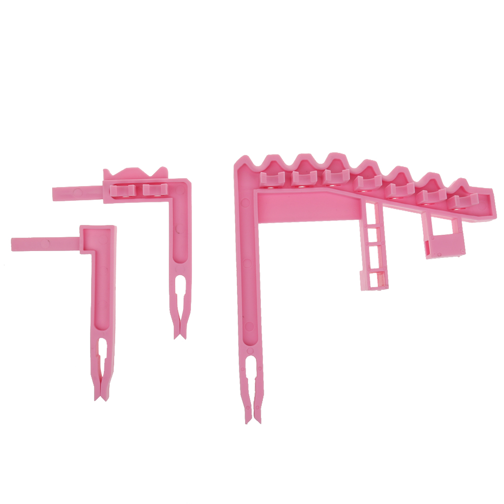 Portable Golf Bag 9 Iron Club Holder Stacker Rack Organizer Accessories Pink